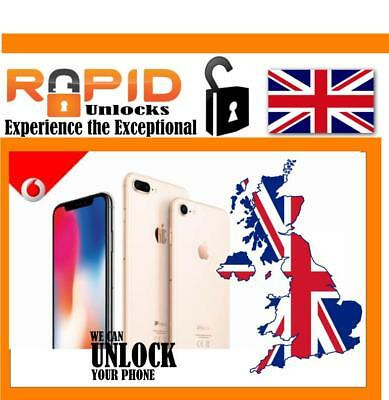 ONLY IMEI NEED TO UNLOCK IPHONE 8 8+ SE 6S 6 5 5S 4s  VODAFONE UK SERVICE CODE