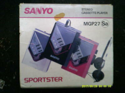 Sanyo Sportster Stereo Personal Cassette Player MGP27 (in original Box + Manual)