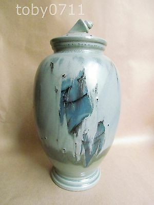Poole Studio Pottery Lidded Jar - Shell Finial
