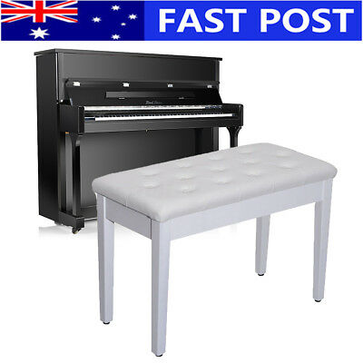 Luxury Piano White Bench PU Leather Seat Chair Keyboard Piano Double Seat Chair