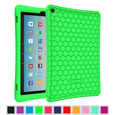 Silicone Shockproof Case Cover For Amazon Fire HD 8 2018/ HD 10 5th/7th Gen 2017