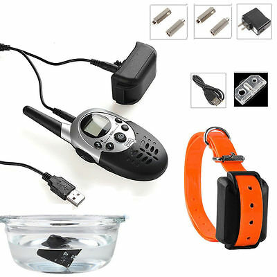 Hot 1000 Yard Waterproof Dog Shock Training Collar With Remote Rechargeable NS