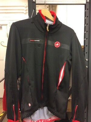 Castelli Rosso Corsa Windstopper Cycling Jacket XL thermal Road Mountain Bike