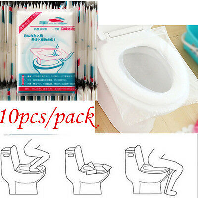 1 Set /10pcs Wood Pulp Disposable Paper Toilet Seat Cover' For Keeping Sanitary