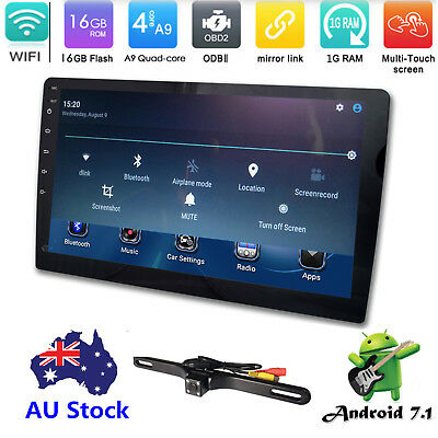 """10.1"""" Quad Core Car Android 7.1 HD 1 Din Stereo Radio 4G WIFI GPS No-DVD Player"""