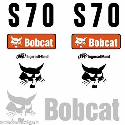 Bobcat S70 DECALS Stickers Skid Steer loader New Repro decal Kit