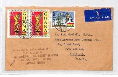 BL310 1970 Ghana Accra Cover Air Mail Nigeria {samwells} PTS