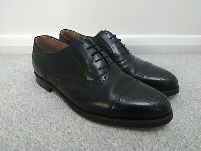 K Shoes Men's Black Leather Brogues Shoes - Size 10
