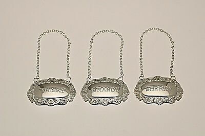 silver plate decanter labels ?
