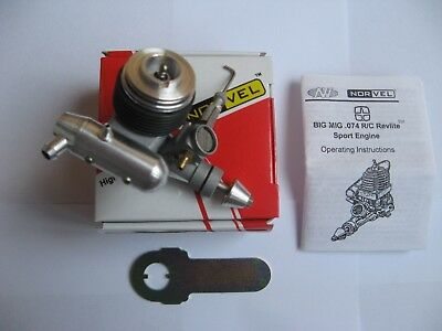 NORVEL BIG MIG .074 R/C Sport Engine. New in box with wrenches and instructions.