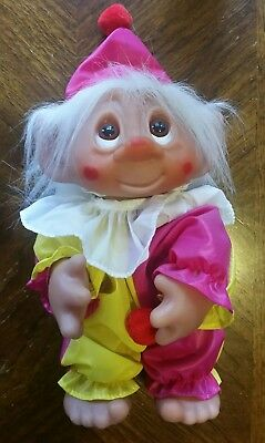 Vintage Rare Dam Clown Troll Family  Figure 6059 With Booklet +  Badge Denmark