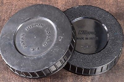 1960's & 70's Nikon F & Nippon Kogaku Pair Bubble Lens Case Bases Only