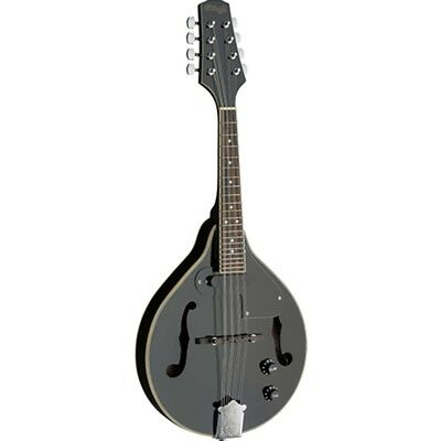 Stagg Black Acoustic-Electric Bluegrass Mandolin with Nato To