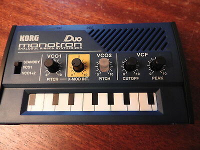 Korg Monotron Duo Analogue Ribbon Synth. Used But Excellent Condition.