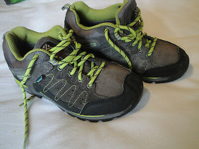 Karrimor Hot Rock hiking boots size 3 in grey and lime green. Gore tex.