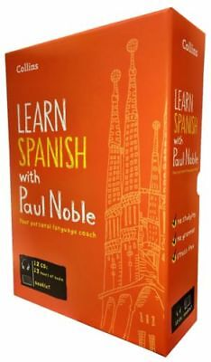 Learn Spanish with Paul Noble Collins 12 CDs, Booklet, DVD Collection Box Set 5