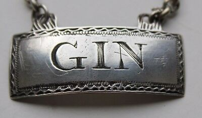 A Georgian Decanter Label For Gin...c. 1790.