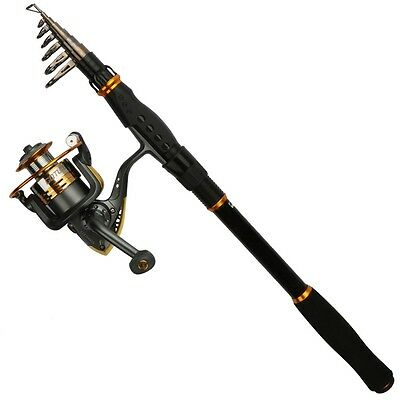 Telescopic Fishing Rod Reel Combo SWORD Rod 2.1M-3.6M & Spinning Reel Saltwater