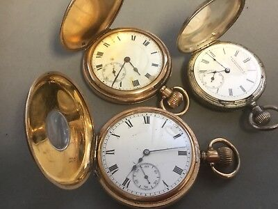 Pocket Watches For Repair / Spares. Waltham