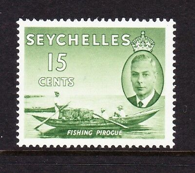 SEYCHELLES 1952 15c WITH CROWN MISSING SG 161a MINT.