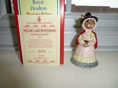 Royal Doulton  Welsh Lady  Bunnykins    Db 172  Mint And   Boxed With Cert