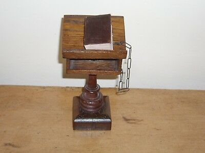1919 Miniature Book - Chained Miniature Bible On Lectern -David  Bryce Style
