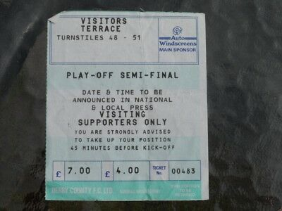Derby v Millwall 15.05.94 - play-off used ticket