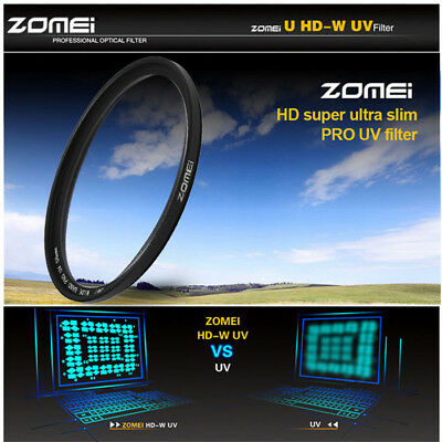 ​Zomei 67mm Diameter UV Filter Ultra-Violet Protector Knurled Frame Edge BLACK