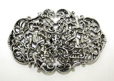 Heavy Ornate, Fully Hallmarked Sterling Silver Nurses Buckle, 59.56g,London 1984