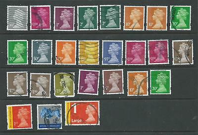 GB 2009-14 - Security Machin - 26 different (Date codes)- Fine Used - off paper