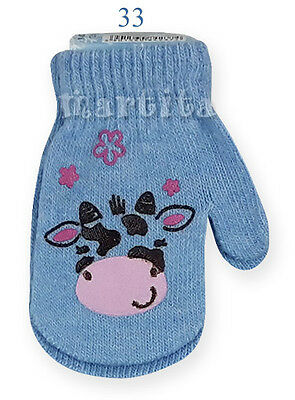 New Baby Girls Winter Gloves Warm Toddlers Kids Childrens  Size 10,12,14 +9Month