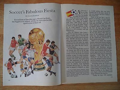 World Cup  Scarce Vintage Magazine Article  8   2   J    N    E