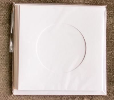 Round aperture square cards - White (Pack of 5)