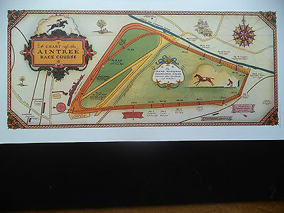Grand National Aintree First Ever  Course Chart  Print   Take A Look
