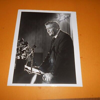 Terry Sanford was 65th Governor of North Carolina Hand Signed Photo