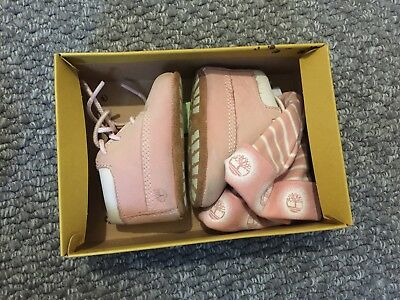 Baby Girls Timberland Boots And Hat