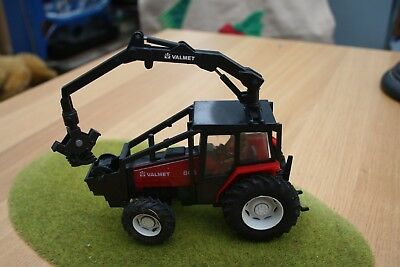 Britains Tractor Valmet with digger arm and winch
