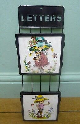 Kitsch decorative retro style letter box - 35cm tall x 11cm wide