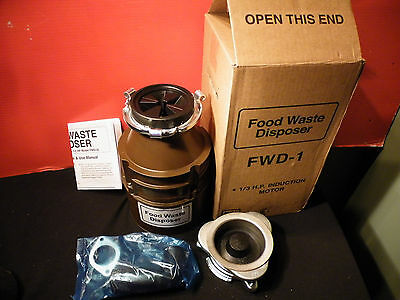 Food Waste Disposer 1/3 Hp Fwd-1-4 New