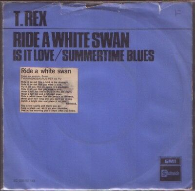 T Rex First Issue - Ride A White Swan , Holland Issue , Poor Condition