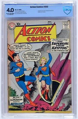 Action Comics #252 (May 1959, DC) * CBCS 4.0 * 1st Appearance of Supergirl!