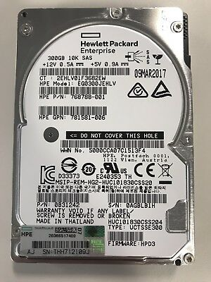 Hpe 300Gb 10000Rpm Sas 12Gbps Sff 2.5Inch Enterprise Hard Drive