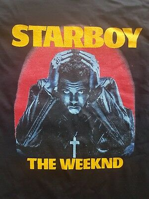 The Weeknd, Starboy 2017 Tour T Shirt, Size M
