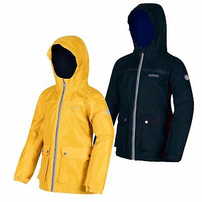 Regatta Kids Malham Lightweight Waterproof Jacket Boys Girls Hooded Coat