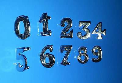 Ex Police Insignia - Chrome Numbers