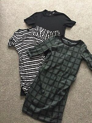 Maternity Dress Bundle Work Winter Newlook 10 H&M Mama Small Dorothy Perkins 12