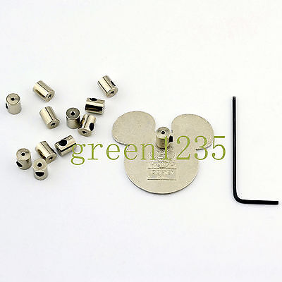 12 New Design 7MM Pin Keepers/Pin Locks/Locking Pin Backs- No Pin Poke-Through