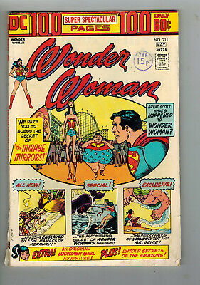 WONDER WOMAN COMIC No. 211 from 1974 - 100 PAGES!