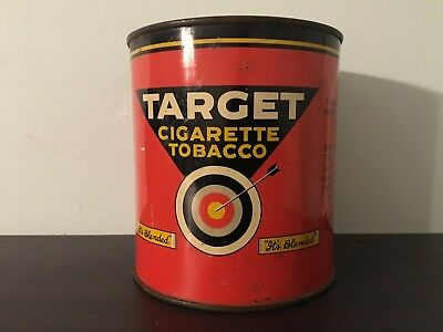Vintage Target tobacco tin-antique-pipe-cigarette-advertising