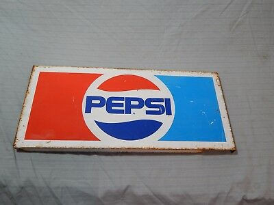 "Vintage Pepsi Metal Sign Advertising 22"" x 10"""